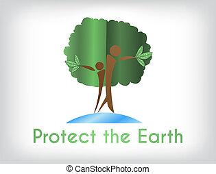 ambiente, proteggere, world., campagna