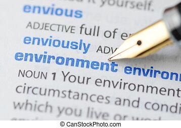 ambiente, serie, -, dizionario