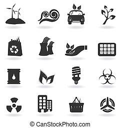 ambiente, simboli, pulito