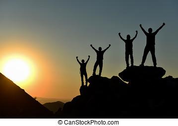 ambitieux, et, fort, grimpeurs