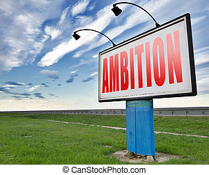 ambition and goals set targets
