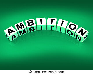 Ambition Blocks Show Targets Ambitions and Aspiration