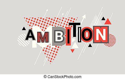 Ambition Business Goal Targeting Web Banner Abstract...