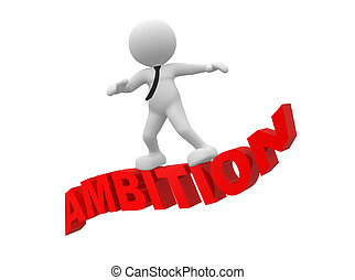 Ambition - 3d people - man, person flying. Ambition