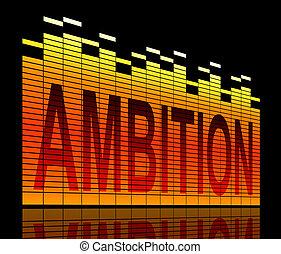 Ambition levels concept.