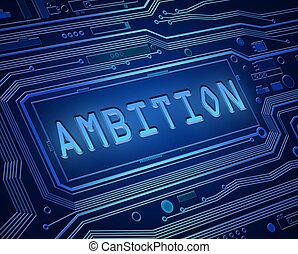 Ambition technology concept.