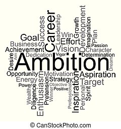 Ambition word cloud, vector
