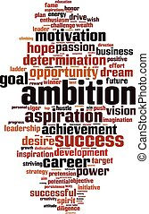 Ambition word cloud - vertical