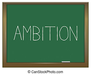 Ambition word concept.