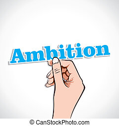 Ambition Word