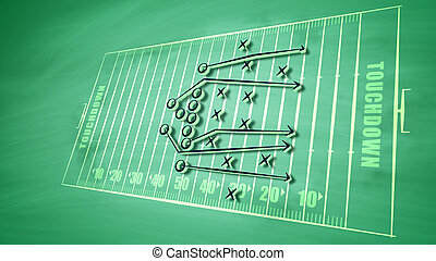 Ambitious American football plan for victory - A splendid 3d...