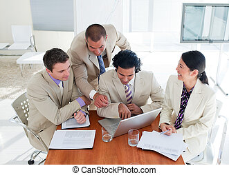 Ambitious business team having a brainstorming