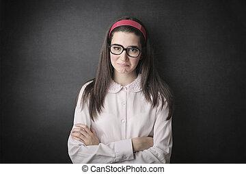 Ambitious woman - Ambitious student woman