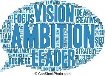 ambizione, nuvola, parola