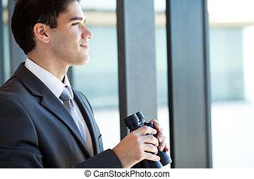 ambizioso, giovane, uomo affari