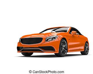ambre, orange, moderne, luxe, cabriolet, business, voiture