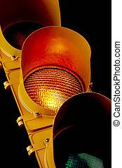 ambre, trafic, light-illuminated