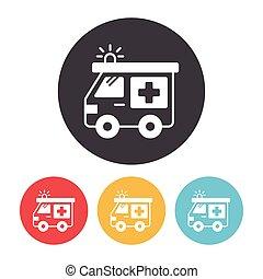 ambulância, ícone