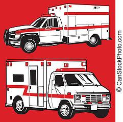 ambulâncias, dois