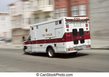 Ambulance 3 - An ambulance blazes by, it\'s sirens whaling....