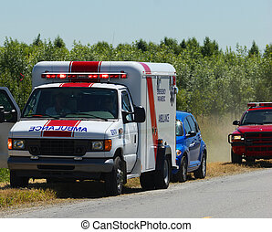 Ambulance  - ambulance at roadside accident