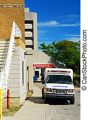 Ambulance at Emergency - Ambulance in from of Emergency...