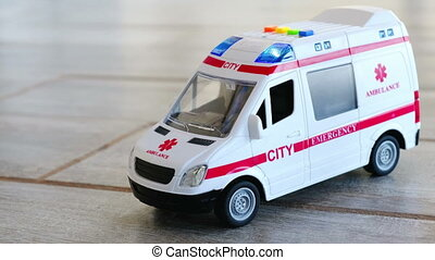 ambulance background health care toy sirens blue lights...