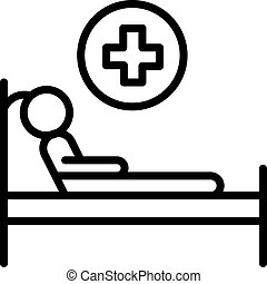 Ambulance Bed Emergency Hospital medical icon