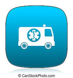 ambulance blue icon