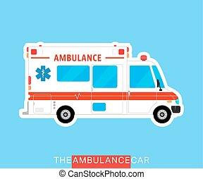 Ambulance bus isolated