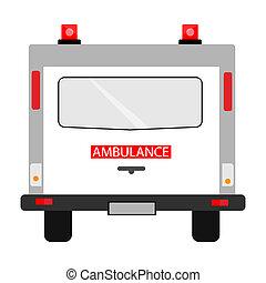 Ambulance car back view