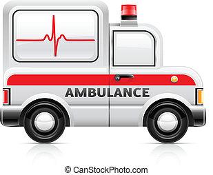 ambulance car vector illustration isolated on white...