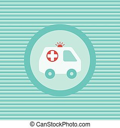 Ambulance car color flat icon