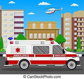 Ambulance car. Emergency vehicle.