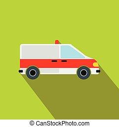 Ambulance car flat icon
