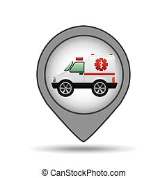 ambulance car icon map pointer