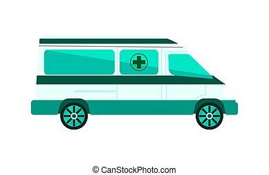 Ambulance car isolated vector illustration
