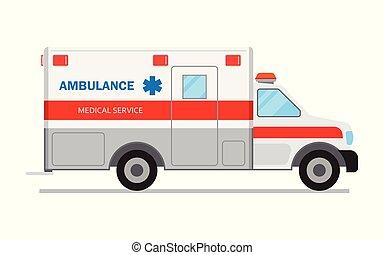Ambulance car, medical service