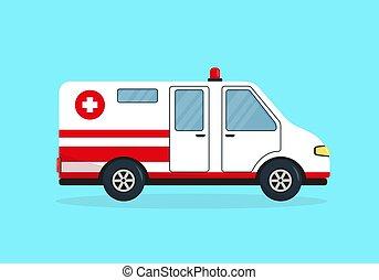Ambulance car. Medical vehicle or emergency service
