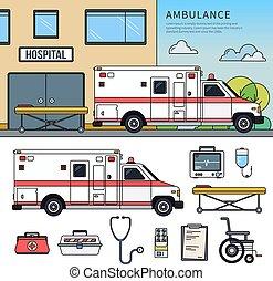 Ambulance car on the street