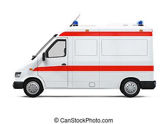 Ambulance Car isolated on white background. 3D render