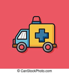 ambulance car vector icon