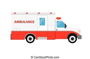 Ambulance car vector illustration.