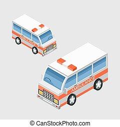 Ambulance car. Vector