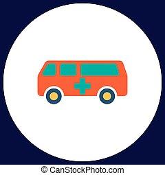 Ambulance computer symbol