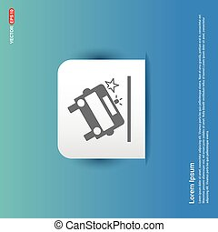 Ambulance crash icon - Blue Sticker button