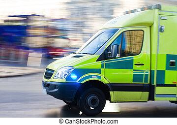 ambulance, dans mouvement