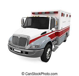 Ambulance Emergency Fire Truck Isolated