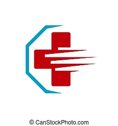 ambulance emergency logo Medical international symbols Vector illustration