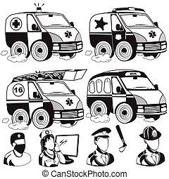 ambulance emergency police fire truck bus